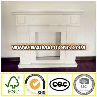 Hot salewhite wood fireplace mantel,sale europe fireplace frame,french style wood fireplace mantel