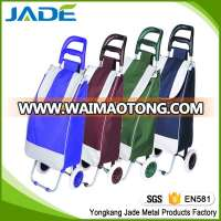 600D Polyester Folding Shopping Trolley Cart,Premium Shopping Trolley Bag With 2 Wheel oem factory on taobao