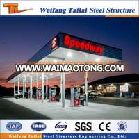 steel structure space grid gas station