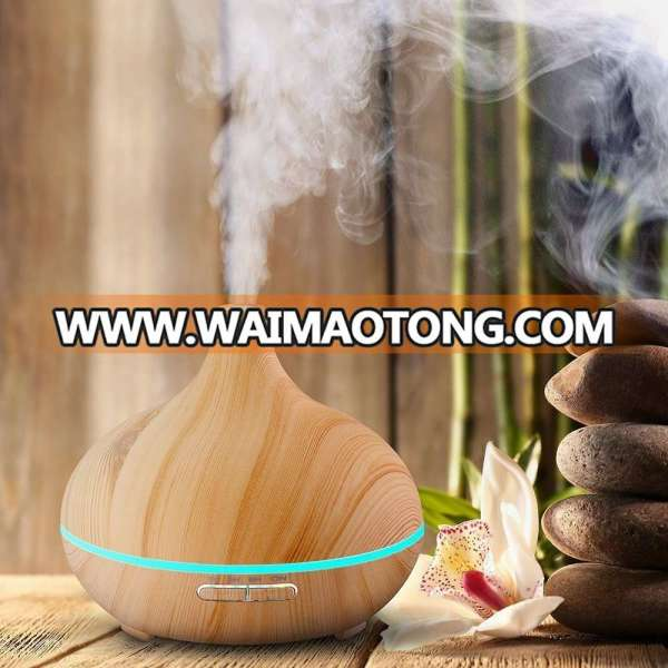 big capacity 300ml wood grain electric ultrasonic aroma essential oil diffuser with competitive price