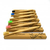 Eco-Friendly /Biodegradable Soft Bristles Natural Bamboo Wooden Travelhandle Toothbrush for Children/Adult